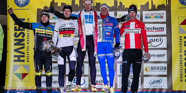 121209_GER_Frankfurt_CycloCross_Men_ceremony_Nipl_pfingsten_Zahner_WeberS_Hansen_by_Kuestenbrueck_acrossthecountry