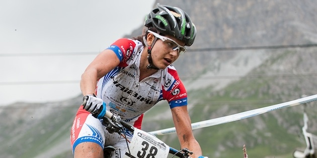 120728_FRA_ValdIsere_XC_Women_Hurikova_downhill_acrossthecountry_mountainbike_xco_by_Maasewerd.