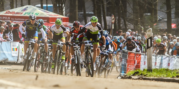 Gegenheimer_Litscher_Stirnemann_Cink_GER_BadSaeckingen_XC_Men_start_frontal_acrossthecountry_mountainbike_by_Gaertitz