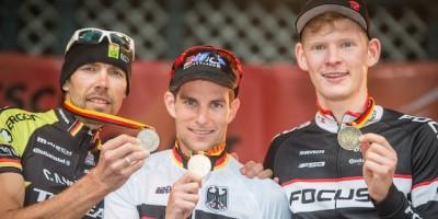 130714_GER_BadSalzdetfurth_DM_XC_Men_ceremony_Kurschat_Milatz_SchulteLuenzum_medals_acrossthecountry_mountainbike_by_Kuestenbrueck