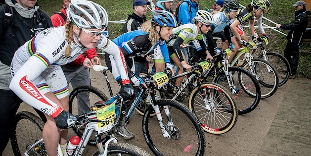 130420_GER_Heubach_XCE_women_finals_start_sideview_acrossthecountry_mountainbike_by_Kuestenbrueck