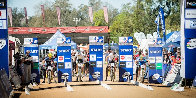 130901_RSA_Pietermaritzburg_XCE_VanDerPloeg_Perrin_Silvestri_Eyring_start_semifinal_by_Kuestenbrueck_acrossthecountry_mountainbike