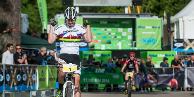 Alexandra-Engen_finish_xce_heubach_140517_5455_acrossthecountry_mountainbike_by_Maasewerd.