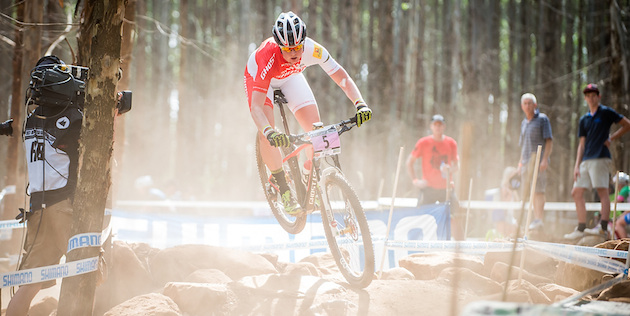 Alexandra-Engen_rocks_jump_acrossthecountry_mountainbike_by_Maasewerd