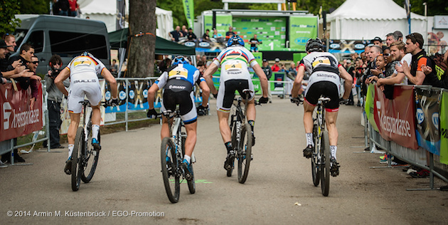 140517_sprint_start_heubach_backview_acrossthecountry_mountainbike_by_Kuestenbrueck