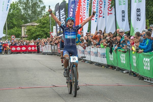 Nachfolger von Jaroslav Kulhavy als Marathon-Europameister: Der Lette Peeter Pruus ©velo.lv