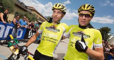 Ihre Sieges-Serie wollen Bulls und Topeak-Ergon durchbrechen: Jochen Käß (links) und Markus Kaufmann von Centurion-Vaude. ©Henning Angerer