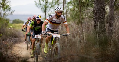 Manuel Fumic leads the race during stage 6 of the 2018 Absa Cape Epic Mountain Bike stage race held from Huguenot High in Wellington, South Africa on the 24th March 2018  Photo by Nick Muzik/Cape Epic/SPORTZPICS  PLEASE ENSURE THE APPROPRIATE CREDIT IS GIVEN TO THE PHOTOGRAPHER AND SPORTZPICS ALONG WITH THE ABSA CAPE EPIC  {ace2018}