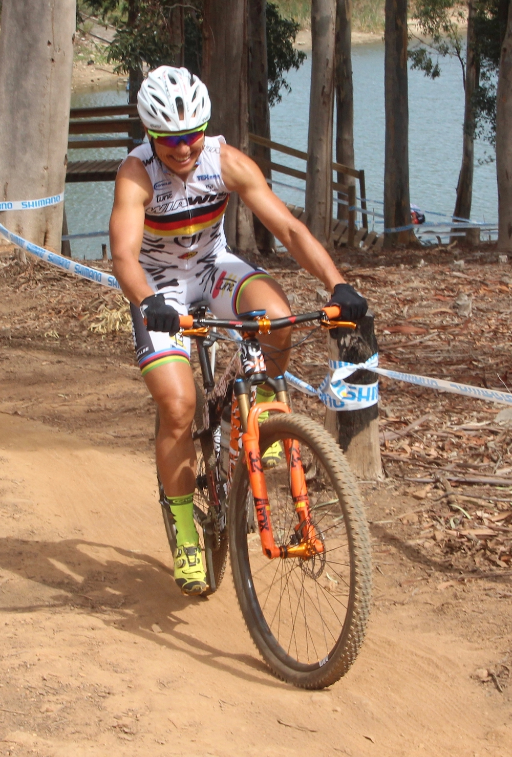 Sabine Spitz_WC18_Stellenbosch_Training_by Goller