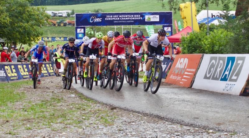 Start EM Graz Staffel ©Erhard Goller