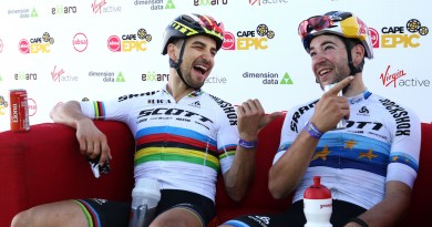 Schurter_Forster_hot seat_ACE19_Stage1_ShaunRoy_Absa Cape Epic
