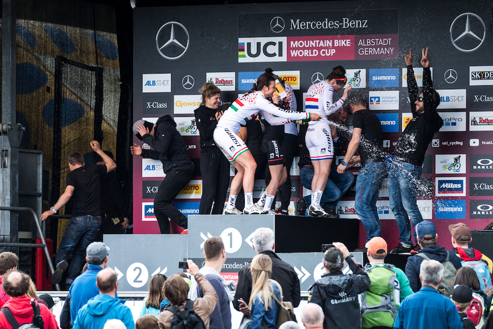 20190519_Ghost winning team_ceremony_champagne shower_GER_Albstadt_by Andreas Dobslaff.
