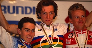 Miguel Martinez_Bart Brentjens_Jan Erik Ostergaard_Podium WM 1995 Kirchzarten