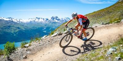 Stefabie Dohrn beim Engadin Bike Giro © Lynn Sigel