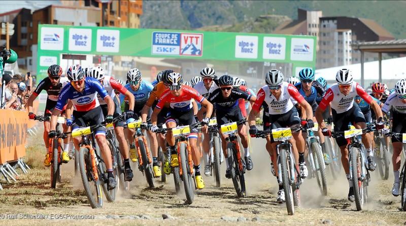 Start der Elite Herren beim Coupe de France in L'Alpe d'Huez / FRA 2020 © Ralf Schäuble / EGO-Promotion