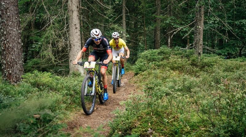 Waren noch bis 15 Kilometer vor dem Ziel zusammen: Georg Egger und Max Brandl. Foto: Sigel.