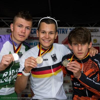 Deutsche Meisterschaft 2012 in Wombach: Junioren: 1. Lukas Baum 2. Georg Egger 3. Ben Zwiehoff © Armin M. Küstenbrück © Armin M. Küstenbrück